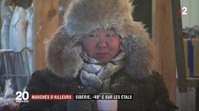 En Sibérie, un marché en plein air par -40 degrés