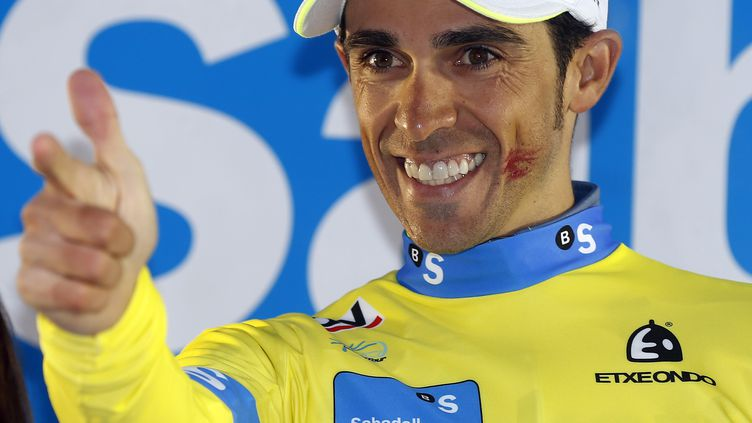 La joie d'Alberto Contador (Tinkoff) (JAVIER ETXEZARRETA / EFE)
