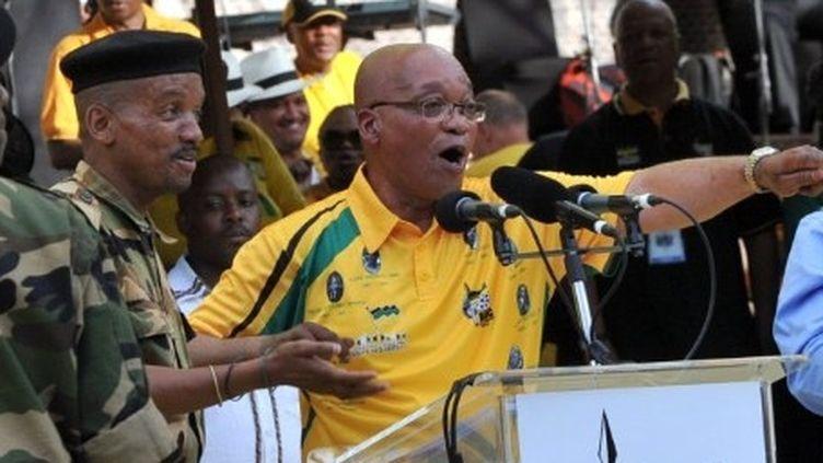 Le président Jacob Zuma, pour les célébrations du centenaire de l'ANC à Bloemfontein, le 8 janvier 2012. (AFP PHOTO/ALEXANDER JOE)