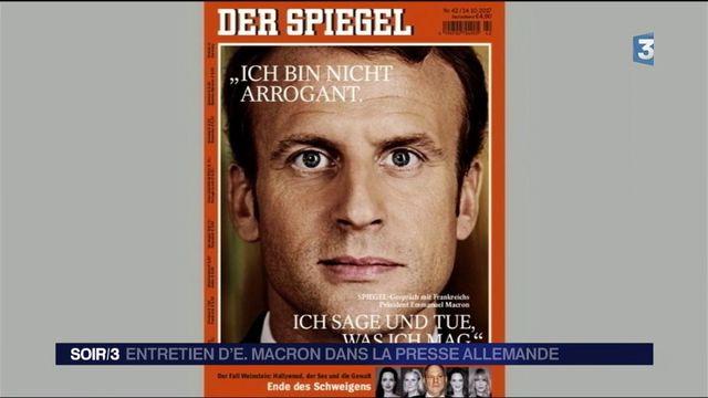 """Emmanuel Macron à la presse allemande : """"Je ne suis pas arrogant"""""""