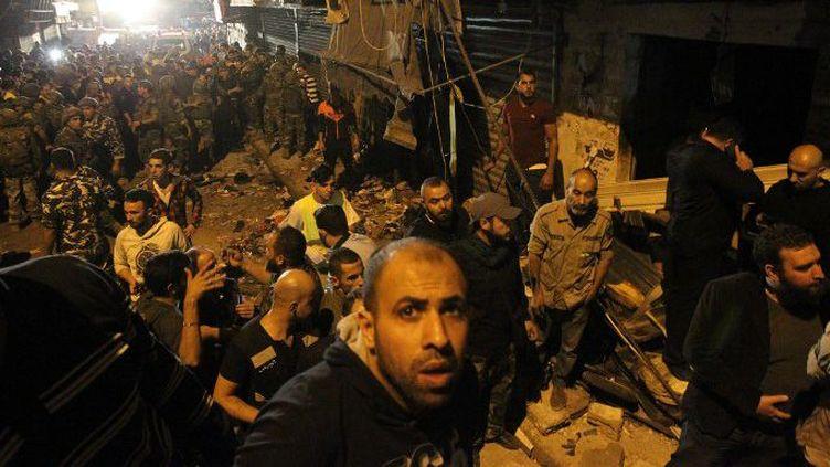 Attentat à Bourj Brajneh dans la banlieue sud de Beyrouth. (AFP/ Anwar Amro )