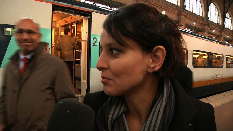 Najat Vallaud-Belkacem et Harlem Désir,  mardi matin, gare du Nord à Paris. (HP)