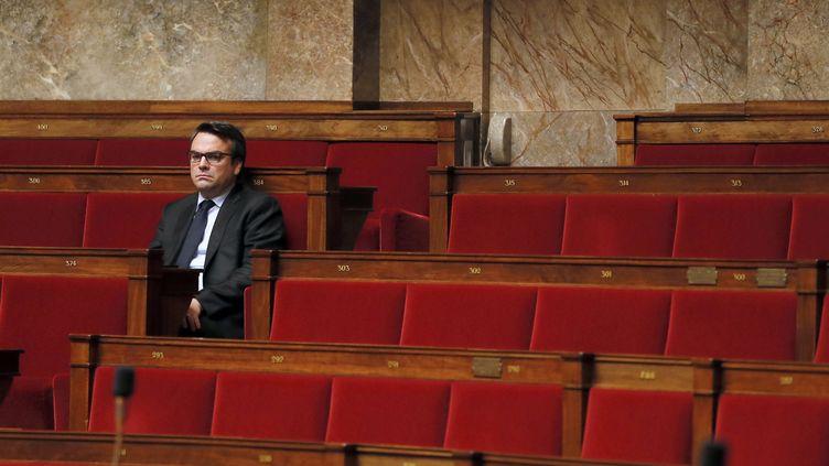 Le député de Saône-et-Loire Thomas Thévenoud, le 28 novembre 2014 à l'Assemblée nationale. (PATRICK KOVARIK / AFP)