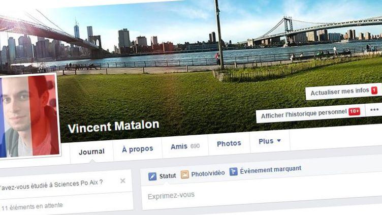 Exemple du dispositif de photo de profil modifiée, proposé par Facebooksamedi 14 novembre 2015 après les attaques terroristes qui ont frappé la région parisienne. (FACEBOOK)