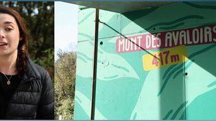 Vendredi 8 octobre, la journaliste France Télévisions Marie Justet est en direct pour le JT de 13 Heures de France 2, depuis le mont des Avaloirs (Mayenne). Elle vous emmène à la découverte de du paysage local. (CAPTURE ECRAN FRANCE 2)