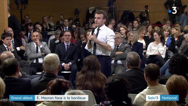 Grand débat national : maires et associations défendent les contrats aidés face à Macron dans l'Essonne
