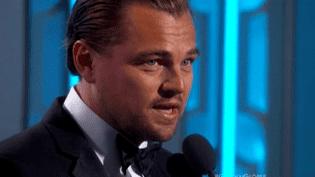 Leonardo Di Caprio lors de la remise des Golden Globes 2016  (France2/culturebox)