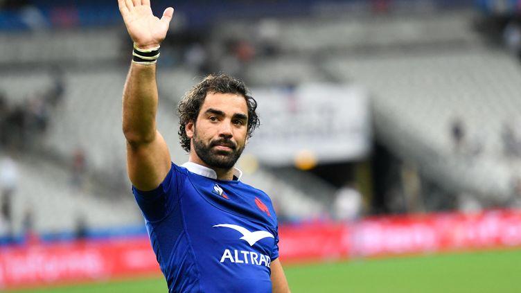 Yoann Huget après le match France - Italie, au Stade de France le 30 août 2019 (BERTRAND GUAY / AFP)