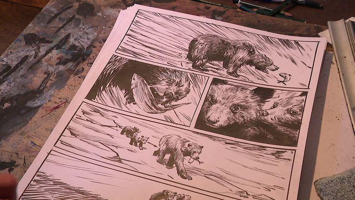 Le prochain album de Jean-Marc Rochette est consacré à l'ours du Vercors (France 3 Alpes)