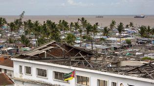 Aux alentours de Beira, la ville la plus touchée par le cyclone Idai en mars 2019,la majorité des maisons détruites n'ont pas été reconstruites (photo prise le 26 février 2020). (KAREL PRINSLOO / UNCDF)