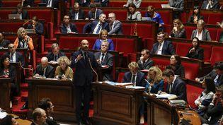 Le Premier ministre Edouard Philippe lors d'une séance de questions au gouvernement, à l'Assemblée nationale le 5 novembre 2019 (THOMAS SAMSON / AFP)