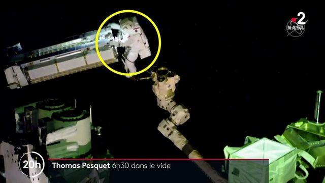 Espace : Thomas Pesquet effectue une sortie extravéhiculaire pour installer un panneau solaire sur l'ISS