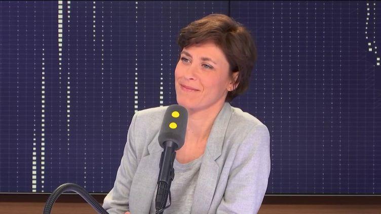 Christelle Dubos, secrétaire d'État auprès de la ministre de la Santé et des Solidarités, le 2 janvier 2019. (RADIO FRANCE / FRANCEINFO)