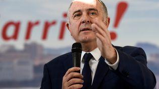 Didier Guillaume, ministre de l'Agriculture, candidat à la mairie de Biarritz, le 11 janvier 2020. (GAIZKA IROZ / AFP)