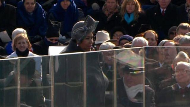 Quand Aretha Franklin chantait pour l'investiture de Barack Obama en 2009