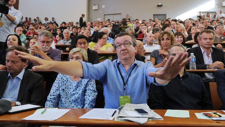 Le député PS frondeur Christian Paul, le 30 août 2014, à l'université d'été du PS de La Rochelle (Charente-Maritime). (XAVIER LEOTY / AFP)