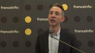 Ian Brossat, tête de liste du Parti communiste français aux élections européennes, lors de la matinée de débats organisée par franceinfo à la Maison de la Radio, le jeudi 23 mai. (FRANCEINFO / RADIO FRANCE)