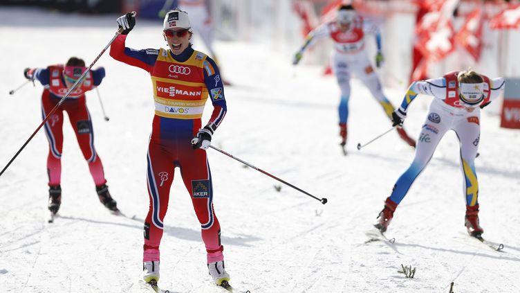 70e victoire pour Bjoergen (PIERRE TEYSSOT / AFP)
