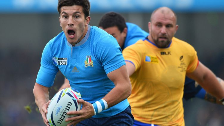 Tommaso Allan, le demi d'ouverture italien, a inscrit 17 points (GLYN KIRK / AFP)