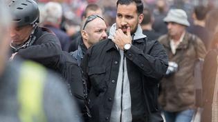 Alexandre Benalla lors de la manifestation du 1er mai 2018, à Paris. (MAXPPP)