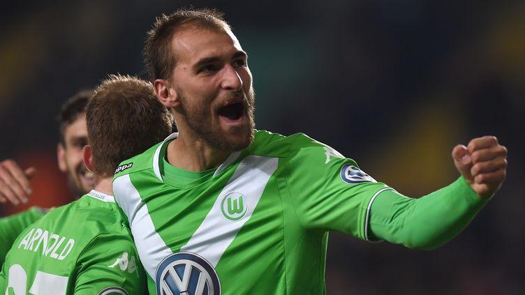 Bas Dost a de nouveau marqué pour Wolfsburg (PATRIK STOLLARZ / AFP)