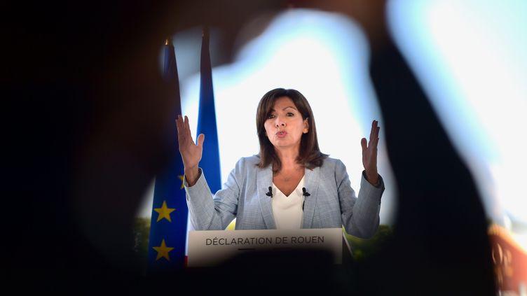 Anne Hidalgo à Rouen, le 12 septembre 2021. (FRANCK CASTEL / MAXPPP)