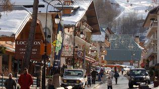 Le centre-ville de Valloire (Savoie), le 6 février 2008. (AFP)
