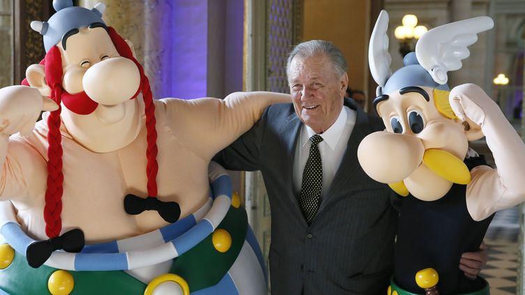 Le créateur d'Astérix et Obélix est mort mardi 24 mars 2020. (PATRICK KOVARIK / AFP)