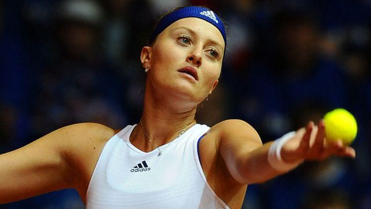Kristina Mladenovic au service (MASSIMO CEBRELLI / MASSIMO CEBRELLI)