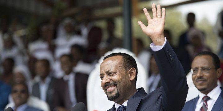 Le Premier ministre éthiopien, Abiy Ahmed, lors d'un meeting à Addis Abeba le 23 juin 2018. (AFP - MINASSE WONDIMU HAILU / ANADOLU AGENCY)