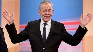 Alexander Van der Bellen à Vienne le 4 décembre 2016 suite à sa victoire lors de la présidentielle autrichienne. (HARALD SCHNEIDER / APA)
