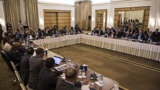 """Des pourparlers se sont tenus le 4 octobre 2019 à Khartoum, au Soudan, entre le pays hôte, l'Egypte et l'Ethiopie à propos du barrage de la Renaissanceque ce dernier construit sur le Nil (il est également connu sous le nom d'""""Hidase"""" en Ethiopie et de """"Nahda"""" en Egypte). (MAHMOUD HAJAJ / ANADOLU AGENCY)"""