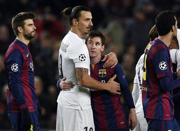 En 2014, le PSG perd la première place du groupe F au match retour au Camp Nou. (LLUIS GENE / AFP)