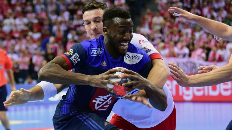 Luc Abalo a souffert dans la défense polonaise (ATTILA KISBENEDEK / AFP)