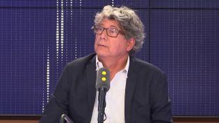 Eric Coquerel, député La France insoumise, le 5 septembre 2018 sur franceinfo. (FRANCEINFO / RADIOFRANCE)