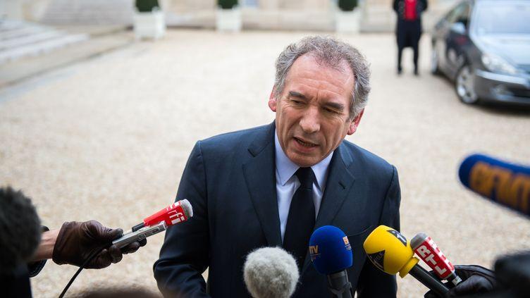 François Bayrou, le président du MoDem, le 30 novembre 2012 à l'Elysée, à Paris. (MARTIN BUREAU / AFP)