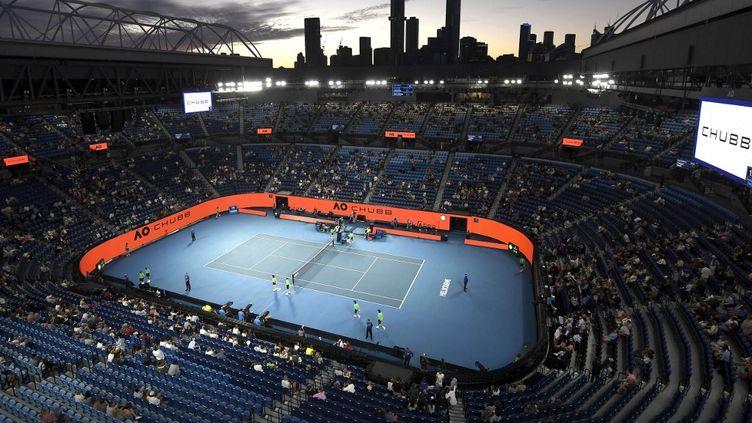 Vue générale du courtRod Laver lors de l'Open d'Australie, à Melbourne, le 9 février 2021. (MORGAN HANCOCK / TENNIS AUSTRALIA / AFP)