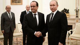 Vladimir Poutine accueille François Hollandele 26 novembre 2015 au Kremlin à Moscou (Russie) (STEPHANE DE SAKUTIN / AFP)
