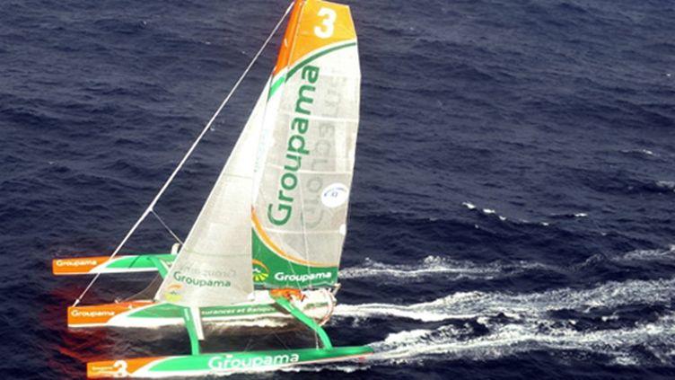 Groupama 3, le superbe bateau de Franck Cammas