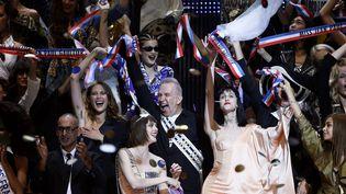 Dernier défilé prêt-à-porter (printemlps-été 2015) pour Jean Paul Gaultier, au grand Rex à Paris  (ÂYOAN VALAT/EPA/MAXPPP)