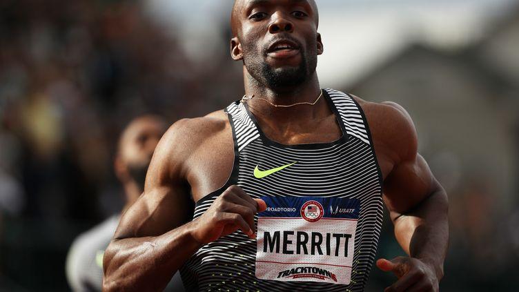 L'athlète américain LaShawn Merritt sur 200m à Eugene (PATRICK SMITH / GETTY IMAGES NORTH AMERICA)