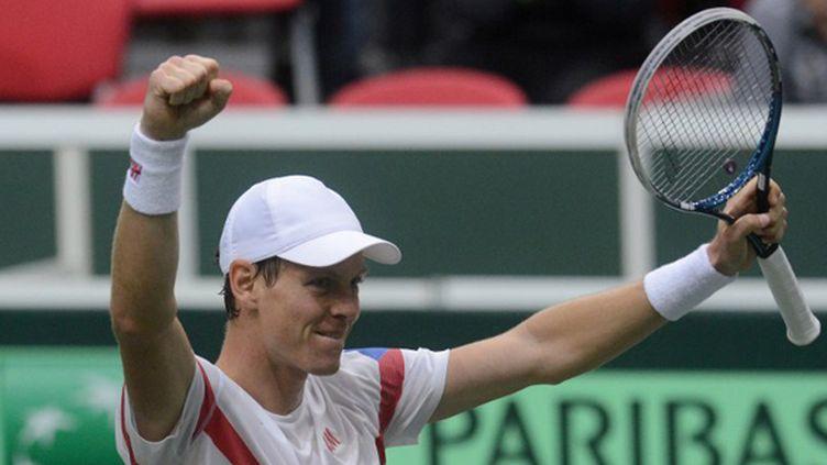 Tomas Berdych a qualifié la République Tchèque en quart de finale de Coupe Davis (MICHAL CIZEK / AFP)