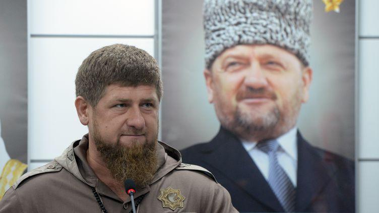 Le président tchétchène Ramzan Kadyrov, le 24 mai 2017, à Grozny (Tchétchénie). (SAID TZARNAEV / SPUTNIK / AFP)