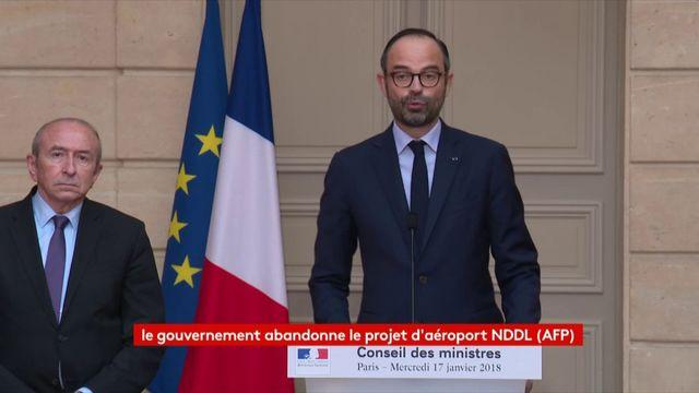 Edouard Philippe annonce l'abandon du projet d'aéroport de Notre-Dame-des-Landes