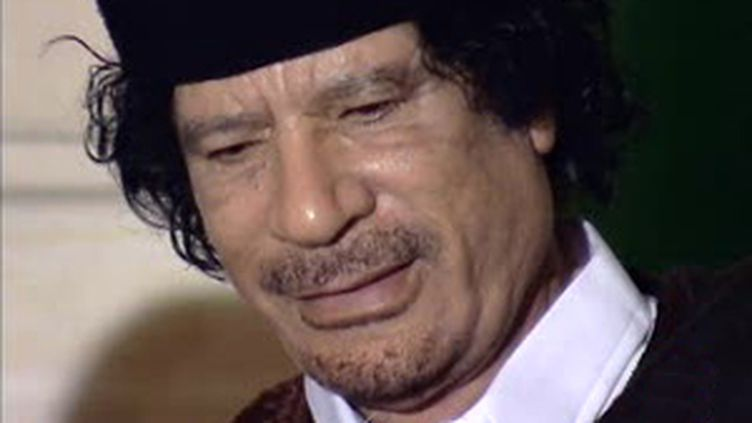 Le dirigeant libyen Mouammar Kadhafi. (© France 2)