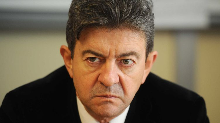 Le candidat du Front de Gauche à la présidentielle, Jean-Luc Mélenchon, le 14 octobre 2011 à Florange (Moselle). (POL EMILE / SIPA)