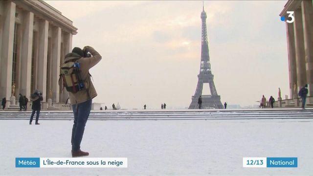 Vague de froid : l'Île-de-France sous la neige, une centaine de bus à l'arrêt