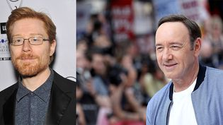 Anthony Rapp (gauche) + Kevin Spacey (droite)   (Tim P. Whitby / GETTY IMAGES NORTH AMERICA / AFP et Dia DIPASUPIL / AFP)