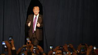 Donald Trump à Las Vegas (Etats-Unis), lors du caucus républicain du Nevada, le 23 février 2016. (ETHAN MILLER / GETTY IMAGES NORTH AMERICA / AFP)