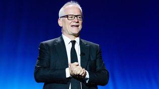 Thierry Frémaux, directeur de l'Institut Lumière de Lyon et délégué général du festival de Cannes pilote le Festival Lumière à Lyon, ici au 68e Festival de du film de San Sebastian, le 18 septembre 2020 (FRANK LOVICARIO / NURPHOTO)